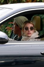 Emma Roberts Out for a drive in Los Angeles