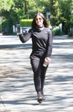 Emma Slater from DWTS seen out for a walk and enjoying her coffee
