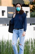 Emmy Rossum Steps Out Wearing a Highly Sought After Surgical Mask and Gloves in Los Angeles