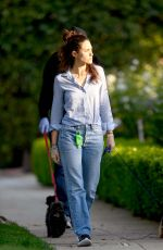 Emmy Rossum Walking her dogs in Los Angeles