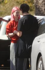 Esther Rose McGregor Has a very emotional moment after meeting up with her boyfriend in Pacific Palisades
