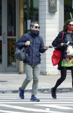 Famke Janssen Spotted Out on a Stroll with a Friend in New York City