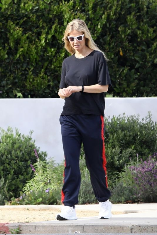 Gwyneth Paltrow and Moses spend time together on a Walk