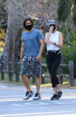 Gwyneth Paltrow Goes incognito for an afternoon walk with hubby Brad Falchuk in Brentwood