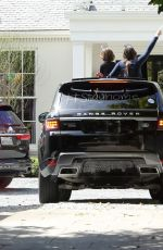 Gwyneth Paltrow Has Drive By Birthday Party for Moses