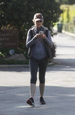 Helen Hunt Out for a walk in Brentwood