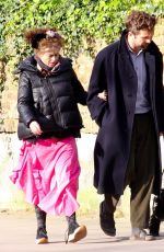 Helena Bonham Carter and Rye Dag Holmboe head to the local butchers for supplies