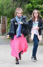 Helena Bonham Carter pictured out with partner Rye Dag Holmboe and Children while out for a walk in North London