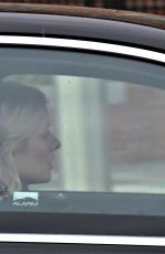 Holly Willoughby Leaving the ITV Studios in her electric Mercedes