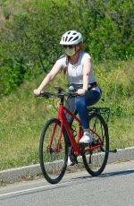 Isla Fisher Riding her bicycle in LA