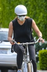 Jennifer Garner Goes for a Sunday bike ride with her son Samual in Brentwood