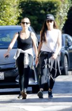 Jennifer Meyer Takes a walk with a friend during lockdown in Brentwood