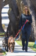 Julia Roberts Wears mechanic coveralls and no mask walking her dogs during Safer At Home order