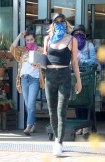 Julianne Hough Wearing a bandana scarf as she is seen at Whole Foods in Malibu