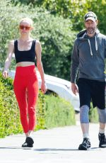 Kate Bosworth and Michael Polish take an afternoon walk with their dog
