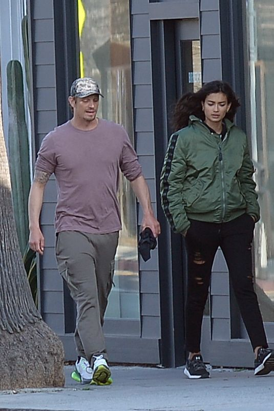 Kelly Gale and boyfriend Joel Kinnaman go for a walk in Los Angeles