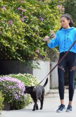 Kelly Gale Out with Her Dog in Los Angeles