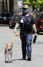 Kelly Osbourne Walks her dogs with brother Jack Osbourne and Aree Gearhart