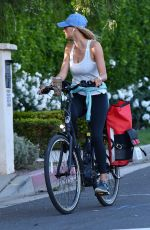 Kelly Rohrbach Out biking in Brentwood