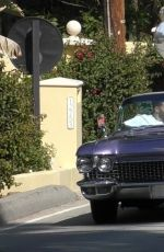 Kendall Jenner and Fai Khadra drop the top in her Cadillac