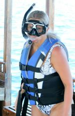 Kerry Katona Has some fun in the sun on her holiday break in the Maldives
