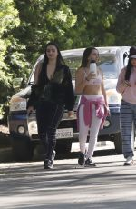 Kyle Richards and the whole family step out for a walk during the Los Angeles