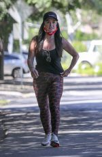 Kyle Richards Steps out for a workout with her friends