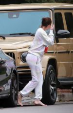 Kylie Jenner Out and about to talk to a friend in n Beverly Hills