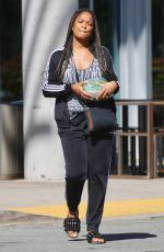 Laila Ali Spotted picking up a salad to go in Los Angeles