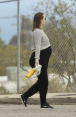 Leighton Meester Show off her baby bump spotted going for a walk with a friend in Los Angeles