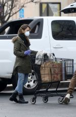 Lily Collins Doing some grocery shopping in LA