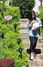Lily Collins Outside a family member