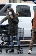 Lily Collins Steps out to go on a grocery run in Los Angeles