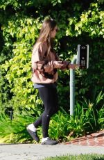 Lily Collins Taking a walk in Beverly Hills