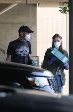 Lily Collins Visits a local grocery store with her boyfriend in Los Angeles