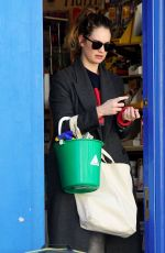 Lily James Pops to her local hard wear store for some essentials during the Coronavirus lockdown in London