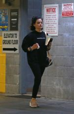 Lucy Hale Gets a workout at a Private Gym