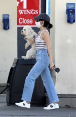 Lucy Hale Makes a pitstop at the Gas Station in Beverly Hills