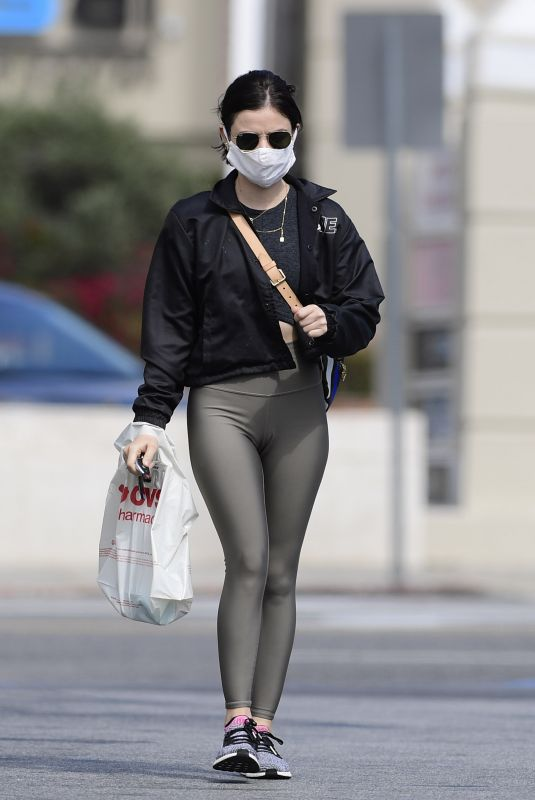 Lucy Hale Wears Her Mask as She Heads to CVS in Los Angeles
