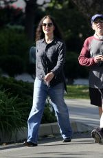 Madeleine Stowe Takes a walk with her actor husband Brian Benben to get some fresh air outside of quarantine lockdown