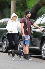 Malin Akerman and Jack Donnelly visit Griffith Park with Sebastian