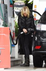 Malin Akerman Spotted Filling up With Gas Sans Facial or Hand Protection in Los Angeles