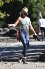 Malin Akerman Walking her dog at Griffith Park in Los Angeles