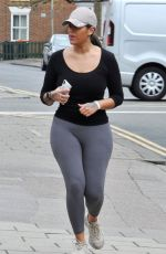 Malin Andersson Tries to go incognito as she is pictured on a jog near her home in London