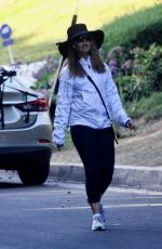 Maria Shriver Goes out for a walk in Brentwood