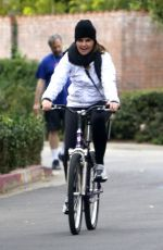 Maria Shriver Out for her daily exercise riding her bike