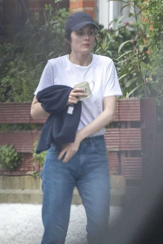Michelle Dockery Out in London