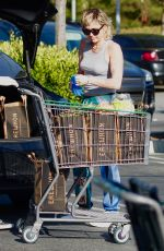 Miley Cyrus Outside a grocery store in Los Angeles