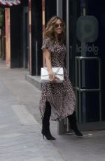 Myleene Klass Arriving at Global Radio in London