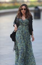 Myleene Klass Arriving at the Global studios for her Smooth Radio show in London